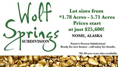 L2 B1 Wolf Springs, Nome, AK 99762 - #: 20-8215