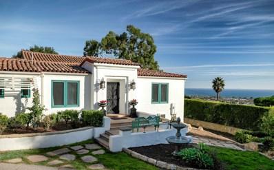1406 Alameda Padre Serra, Santa Barbara, CA 93103 - #: 18-4005