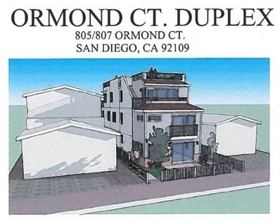 805 Ormond Court, San Diego, CA 92109 - #: 180049560