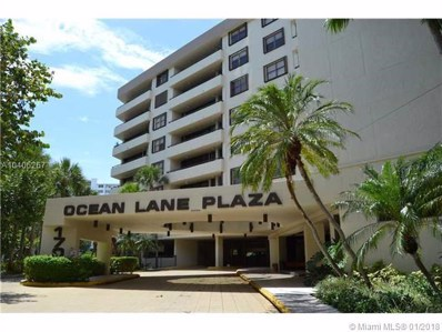 170 Ocean Lane Dr UNIT 511, Key Biscayne, FL 33149 - #: A10406267