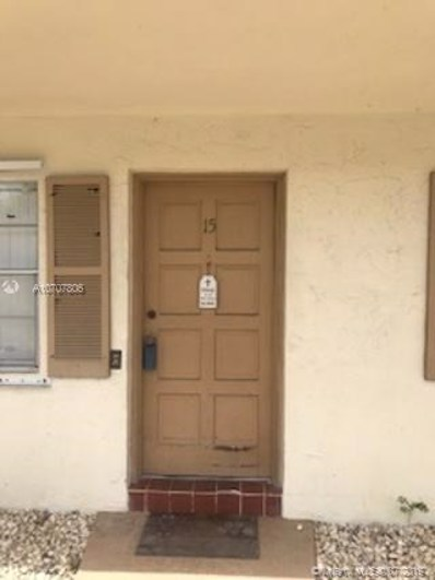 3990 W Woodside Dr UNIT 15, Coral Springs, FL 33065 - #: A10707806