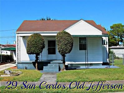 29 San Carlos Avenue, Jefferson, LA 70121 - #: 2226722