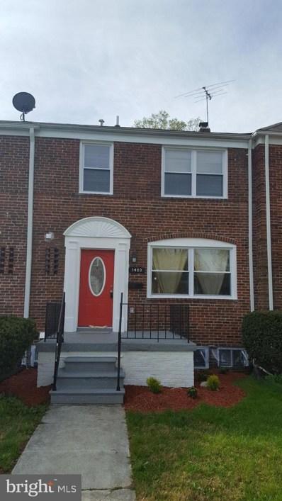 1403 Kingsway Road, Baltimore, MD 21218 - #: MDBA464766