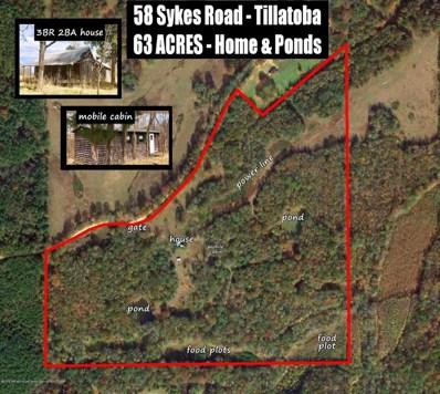 58 Sykes - Tallahatchie Co, Tillatoba, MS 38961 - #: 321468